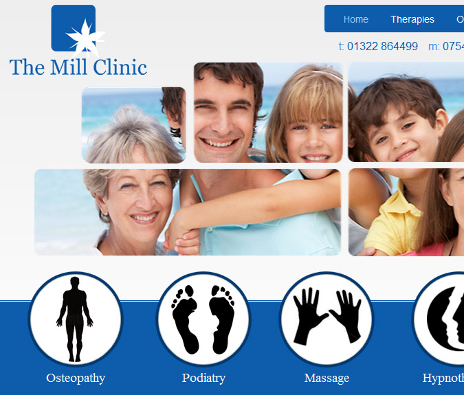 The Mill Clinic Website